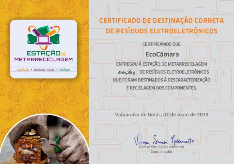 Comitê de Gestão Socioambiental da Câmara coleta mais de 300kg de resíduos eletroeletrônicos