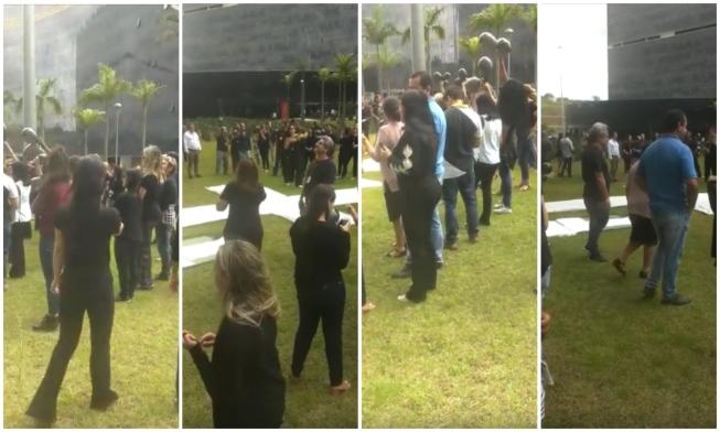 Servidores protestam na Cidade Administrativa para cobrar 13º salário