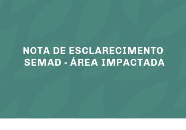 NOTA DE ESCLARECIMENTO SEMAD - Área impactada entre Barragem B1 e Rio Paraopeba