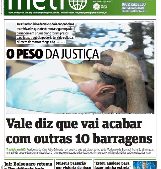 Nota Sindsema no Jornal  Metro e O Tempo
