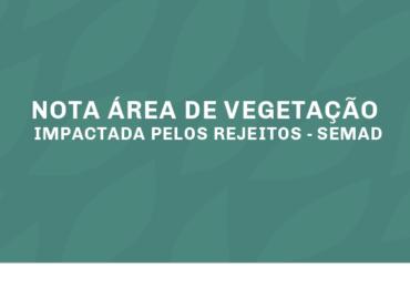 NOTA ÁREA DE VEGETAÇÃO IMPACTADA PELOS REJEITOS - SEMAD