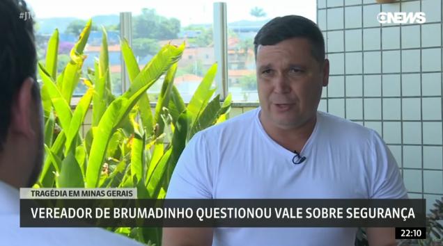 Vereador de Brumadinho questionou Vale sobre segurança um mês antes da tragédia