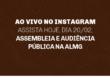Anote em sua agenda: hoje, dia 20/02, faremos uma transmissão ao vivo no Instagram sobre a Assembleia e a Audiência Pública do SINDSEMA, direto da ALMG.