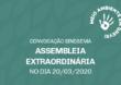 Convocação para a Assembleia do dia 20/3/2020 – On-line. Participe!