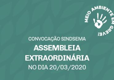 Convocação para a Assembleia do dia 20/3/2020 - On-line. Participe!