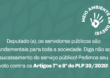 Peça apoio dos deputados federais contra os Artigos 7º e 8º do PLP 39/2020