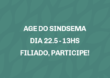 CONVOCAÇÃO AGE –  DIA 22 DE MAIO, ÀS 13H