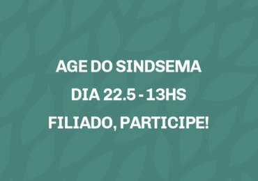 CONVOCAÇÃO AGE -  DIA 22 DE MAIO, ÀS 13H