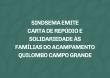 SINDSEMA emite carta de repúdio e solidariedade às famílias do acampamento Quilombo Campo Grande