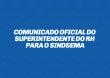Comunicado Oficial do Superintendente do RH para o Sindsema