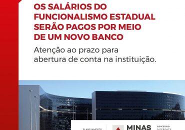 Salários do funcionalismo estadual serão pagos por meio de novo banco e servidor já pode antecipar abertura de conta