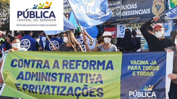 Brasília – Pública Central do Servidor no 3/8 contra a PEC-32