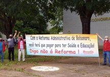 Protestos em Brasília preparam a paralisação nacional dos servidores públicos em 18 de agosto