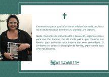 Nota de Falecimento – Daniela Lara Martins